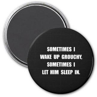 Grouchy Sleep 3 Inch Round Magnet
