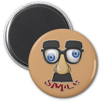 grouchy smile 2 inch round magnet