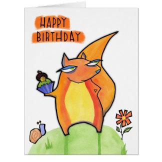 Grouchy Squirrel Birthday Big Card