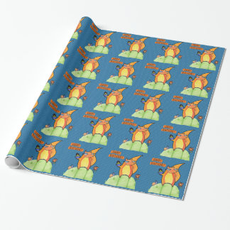 Grouchy Squirrel Birthday blue Wrapping Paper