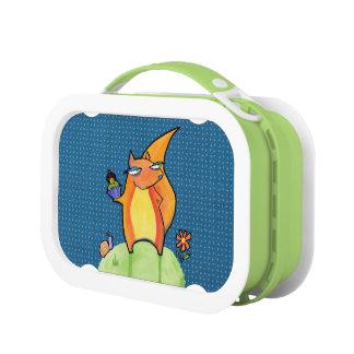 Grouchy Squirrel blue Lunchbox