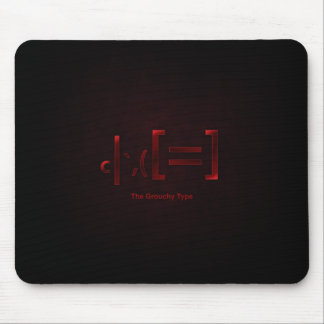 grouchy type mousepad