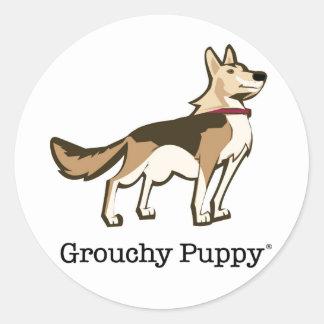GrouchyPuppy Round Sticker