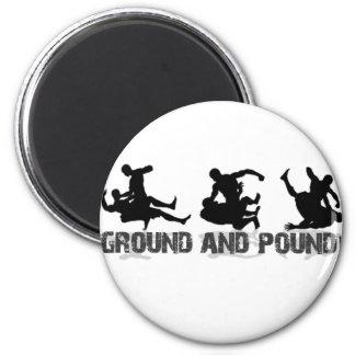 Ground and Pound Line 2 Inch Round Magnet