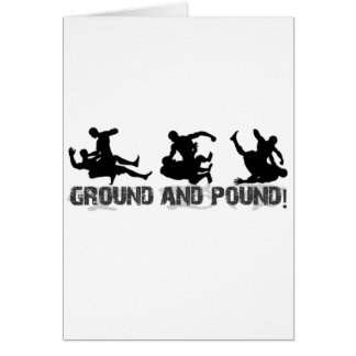 Ground and Pound Line Greeting Card