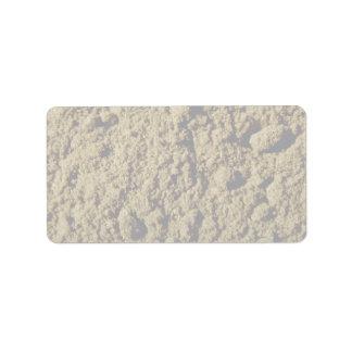 Ground anise address label