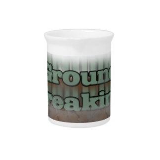 Ground breaking beverage pitchers