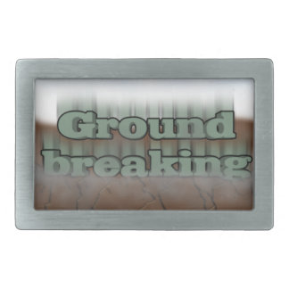 Ground breaking rectangular belt buckle