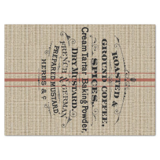 """Ground Coffee Feed Bag 17"""" X 23"""" Tissue Paper"""