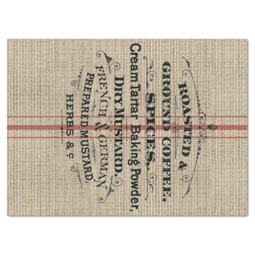 Coffee Themed Ground Coffee Feed Bag Tissue Paper
