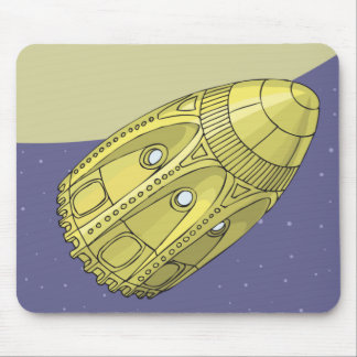 Ground has the moon - Jules Verne Mouse Pad