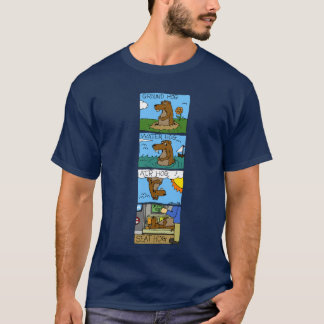 Ground Hog Cartoon - Customized T-Shirt