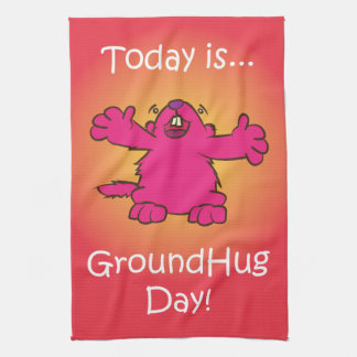 Ground Hug Day Hand Towel