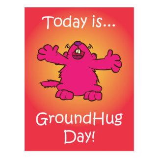 Ground Hug Day Postcard