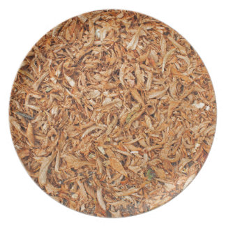 Ground in the park, covered with fallen leaves of melamine plate