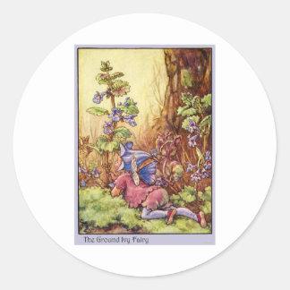 Ground Ivy Fairy Classic Round Sticker
