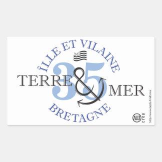 Ground-MER island and unpleasant Rectangular Sticker