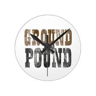 Ground 'n Pound Round Clock