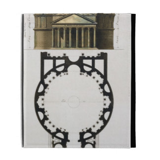 Ground plan and facade of the Pantheon, Rome, from iPad Folio Cases