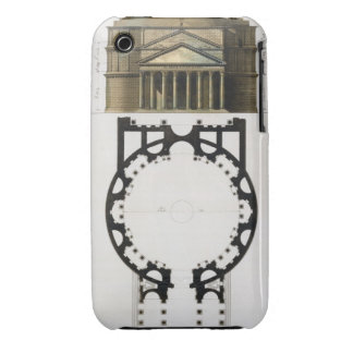 Ground plan and facade of the Pantheon, Rome, from iPhone 3 Case
