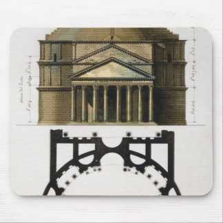 Ground plan and facade of the Pantheon, Rome, from Mouse Pad