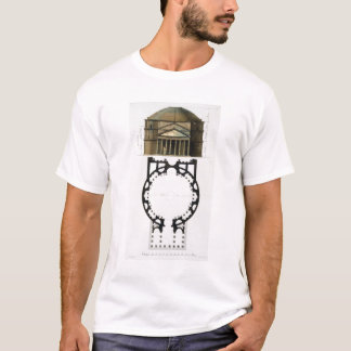 Ground plan and facade of the Pantheon, Rome, from T-Shirt