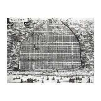 Ground Plan of Canton, China Canvas Print
