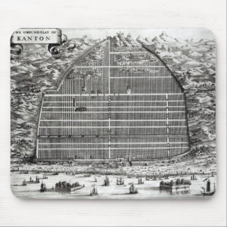 Ground Plan of Canton, China Mouse Pad