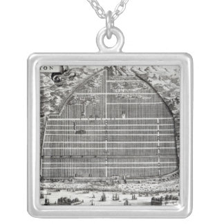Ground Plan of Canton, China Jewelry