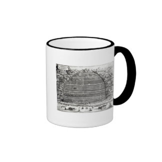 Ground Plan of Canton, China Ringer Mug