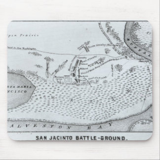 Ground Plan of the Battle of San Jacinto Mouse Pad