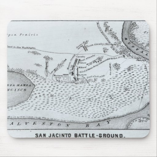 Ground Plan of the Battle of San Jacinto Mousepads