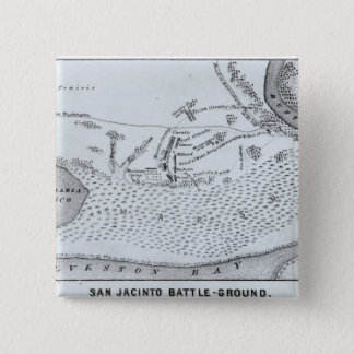 Ground Plan of the Battle of San Jacinto Pinback Button