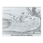 Ground Plan of the Battle of San Jacinto Postcard