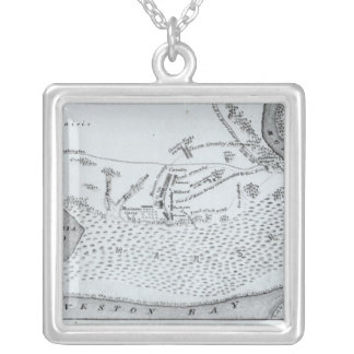 Ground Plan of the Battle of San Jacinto Silver Plated Necklace