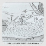 Ground Plan of the Battle of San Jacinto Square Stickers