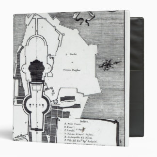Ground plan of the Vatican, Rome 3 Ring Binder