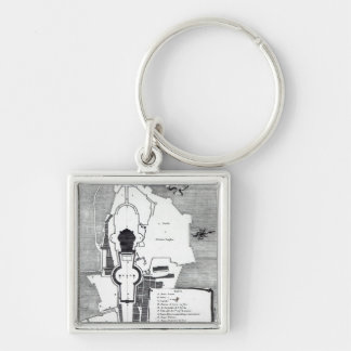 Ground plan of the Vatican, Rome Keychain