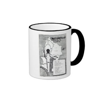 Ground plan of the Vatican, Rome Ringer Mug