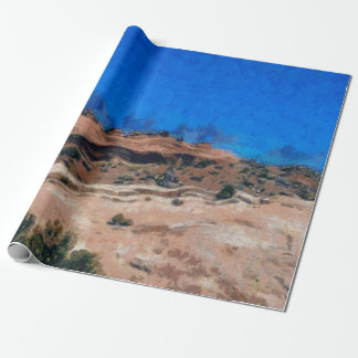 Ground shaking during an earthquake wrapping paper