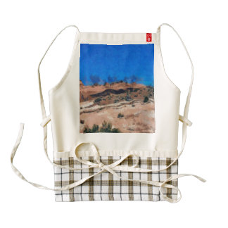 Ground shaking during an earthquake zazzle HEART apron