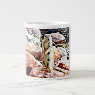 Ground Squirrel in Pink Coffee Mug/Cup Large Coffee Mug