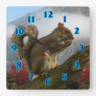 Ground Squirrel Square Wall Clock