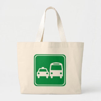 Ground Transportation Highway Sign Tote Bags