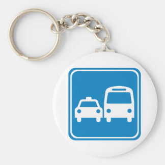 Ground Transportation Highway Sign Key Chains