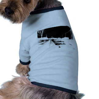 Ground View Of Rail Road Tracks - negative Doggie T-shirt