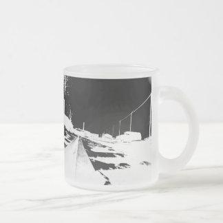 Ground View Of Rail Road Tracks - negative Coffee Mug