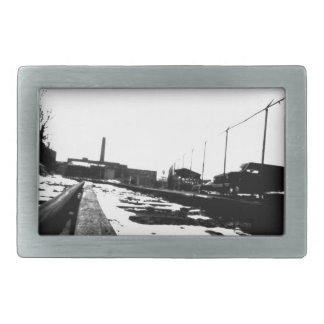 Ground View Of Road Tracks Belt Buckle