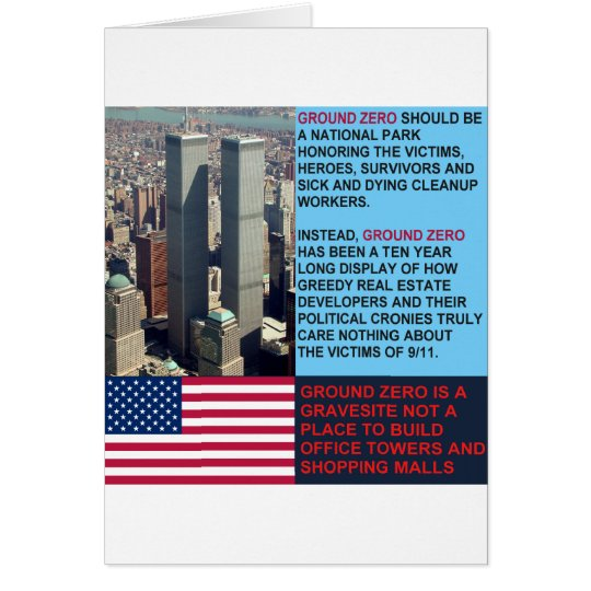 Ground Zero is a Gravesite not a Shopping Mall Card