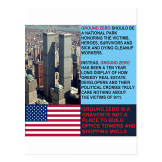 Ground Zero is a Gravesite not a Shopping Mall Postcard